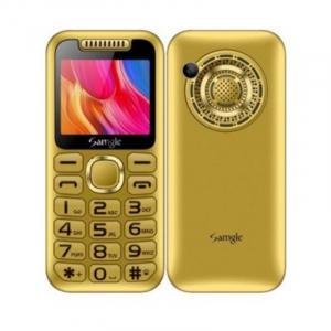 """Telefon mobil Samgle Halo, 3G, TFT 2.0"""" color, Camera 2.0MP, Bluetooth, FM, Lanterna, 3000mAh, Dual SIM, Stand incarcare cadou, Gold0"""
