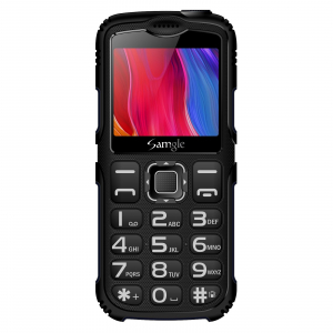 """Telefon mobil Samgle Armor, 3G, QVGA 2.0"""" color, Camera 2.0MP, Bluetooth, FM, Lanterna, 3000mAh, Dual SIM, Stand incarcare cadou, Negru1"""