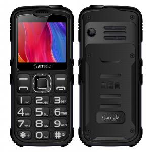 """Telefon mobil Samgle Armor, 3G, QVGA 2.0"""" color, Camera 2.0MP, Bluetooth, FM, Lanterna, 3000mAh, Dual SIM, Stand incarcare cadou, Negru0"""