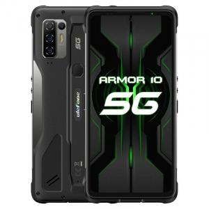 "Telefon mobil Ulefone Armor 10 Negru, 5G, 6.67"" perforat FHD+, 8GB RAM, 128GB ROM,Dimensity 800 OctaCore, NFC, Incarcare wireless, 5800mAh0"
