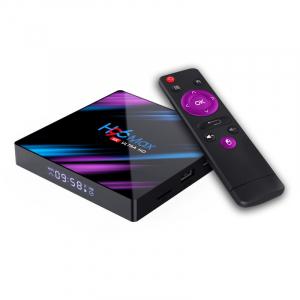 TV Box H96 MAX-3318 Smart Media Player, 4K, 4GB RAM, 64GB ROM, Rockchip RK3318 QuadCore, Android 10.0, USB 3.0, Slot memorie0