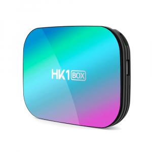 TV Box HK1 BOX Smart Media Player Resigilat, 8K, RAM 4GB, ROM 64GB, Amlogic S905X3, Android 9.0, Slot Card, Quad Core0