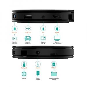 TV BOX HK1 Max 4K, Android 9.0, 4GB RAM, 32GB ROM, Kodi 18, RK3318 Quad Core, Wifi, Lan, Bluetooth, Slot Card4
