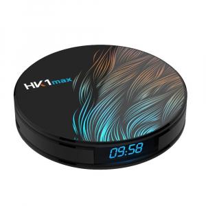 TV BOX HK1 Max 4K, Android 9.0, 4GB RAM, 64GB ROM, Kodi 18, RK3318 Quad Core, Wifi, Lan, Bluetooth, Slot Card2