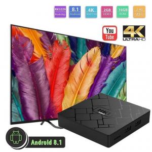 TV BOX HK1 Mini 4K, Android 8.1, 2GB RAM 16GB ROM, Kodi 18, RK3229 Quad core, Wifi, Lan, Slot Card,3