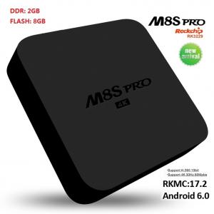 TV BOX M8S pro 4K RK3229, KODI 17 2, Android 6 0, 2GB RAM, 8GB ROM, H.264/H.265 10Bit, WIFI, LAN, HDMI, Miracast - DualStore3