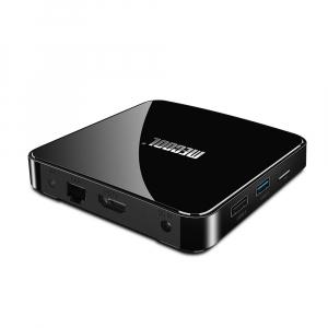 TV Box Mecool KM3 Smart Media Player, 4GB Ram, 128 GB ROM, Android 9.0, QuadCore, Control vocal2