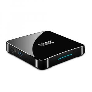 TV Box Mecool KM3 Smart Media Player, 4GB Ram, 128 GB ROM, Android 9.0, QuadCore, Control vocal7