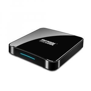 TV Box Mecool KM3 Smart Media Player, 4GB Ram, 128 GB ROM, Android 9.0, QuadCore, Control vocal4