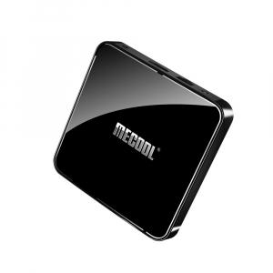 TV Box Mecool KM3 Smart Media Player, 4GB Ram, 128 GB ROM, Android 9.0, QuadCore, Control vocal3