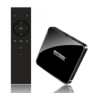 TV Box Mecool KM3 Smart Media Player, 4GB Ram, 64 GB ROM, Android 9.0, QuadCore, Control vocal9