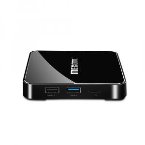 TV Box Mecool KM3 Smart Media Player, 4GB Ram, 128 GB ROM, Android 9.0, QuadCore, Control vocal1