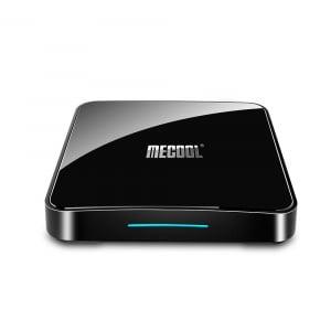 TV Box Mecool KM3 Smart Media Player, 4GB Ram, 128 GB ROM, Android 9.0, QuadCore, Control vocal0