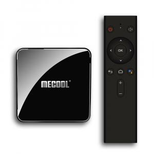 TV Box Mecool KM3 Smart Media Player, 4GB Ram, 128 GB ROM, Android 9.0, QuadCore, Control vocal10