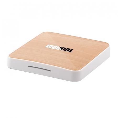 TV BoxMecool KM6 Deluxe Edition Smart Media Player Maro, 4K, RAM 4GB, ROM 64GB,Android 10,Amlogic S905X4 Quad Core, WiFi 6, Slot Card1