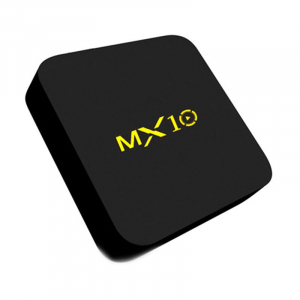 TV BOX MX10 4K, KODI 17.4 , Android 9, HDR, Quad Core RK3328, 4GB RAM DDR4  32GB ROM, WIFI, LAN, VP9, HDMI, USB, Slot Card4