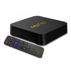 TV BOX MX10 4K, KODI 17.4 , Android 9, HDR, Quad Core RK3328, 4GB RAM DDR4  64GB ROM, WIFI, LAN, VP9, HDMI, USB, Slot Card1