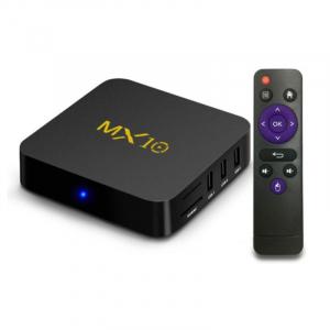 TV BOX MX10 4K, KODI 17.4 , Android 9, HDR, Quad Core RK3328, 4GB RAM DDR4  64GB ROM, WIFI, LAN, VP9, HDMI, USB, Slot Card3