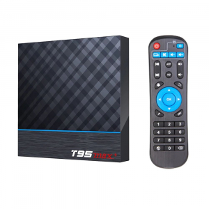 TV Box T95 Max Plus, 8K, 4GB RAM, 32GB ROM, Android 9, S905X3 Quad Core, ARM G31 MP2, Wi-Fi, Bluetooth, USB 3, Slot card0