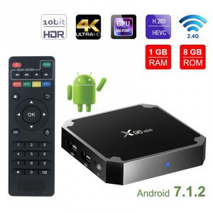 TV Box X96 Mini 4K, Quad-Core, 1GB RAM, 8GB ROM, Suport TV sau perete, KODI, WiFi, HDMI, Android 7.1.2, Prelungitor IR,0