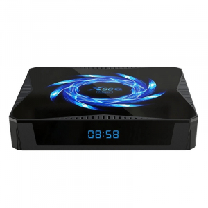 TV Box X96Q Max, 4K, Android 10, 4GB RAM, 64GB ROM, Allwinner H616 Quad-Core, Suport TV sau perete, WiFi, HDMI, Extensie IR4