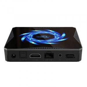 TV Box X96Q Max, 4K, Android 10, 4GB RAM, 64GB ROM, Allwinner H616 Quad-Core, Suport TV sau perete, WiFi, HDMI, Extensie IR5