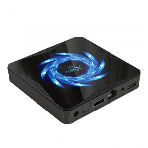 TV Box X96Q Max, 4K, Android 10, 4GB RAM, 64GB ROM, Allwinner H616 Quad-Core, Suport TV sau perete, WiFi, HDMI, Extensie IR7
