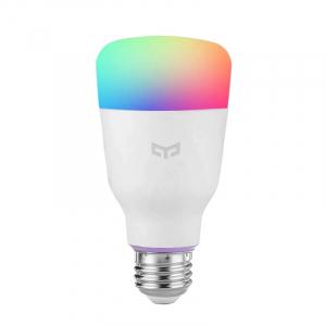 Bec smart Xiaomi Yeelight LED Bulb 1S V2 color, 8.5W, 800 lumeni, E27, WiFi 2.4G, Control vocal,Reglaj intensitate, Temporizator, Aplicatie0