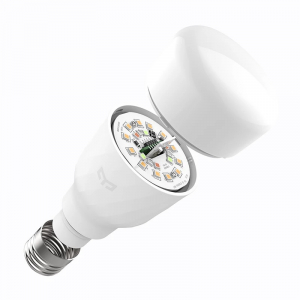 Bec smart Xiaomi Yeelight LED Bulb 1S V2 color, 8.5W, 800 lumeni, E27, WiFi 2.4G, Control vocal,Reglaj intensitate, Temporizator, Aplicatie2