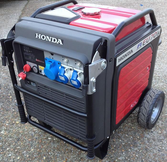 Generator digital HONDA monofazat 7kw 13CP EU70iS tip ITT-big