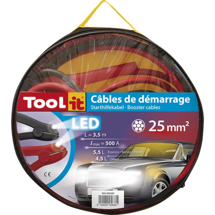 Cabluri de pornire GYS SPECIAL LED Ø 25 mm² 3.5m 500A 056381-big