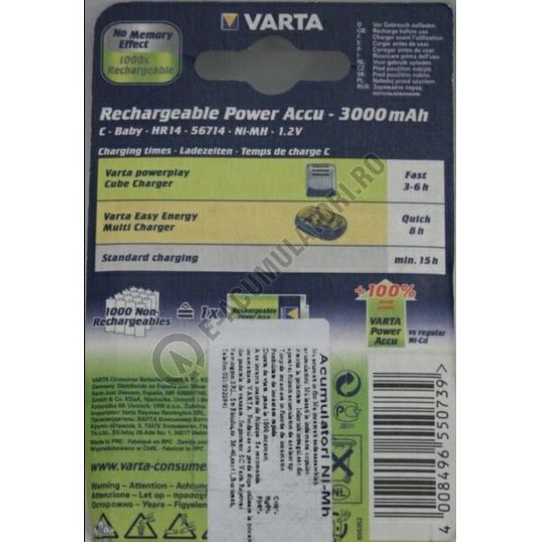 Acumulatori Varta C R14 Baby NiMH 3000 mAh bl 2 buc-big