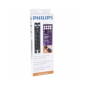 Prelungitor cu protectie Philips 4 prize, 2 m (152-090)-big