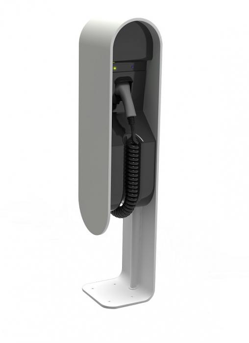 Stație de încărcare EVita aluminum 32A/1F T2 Coiled + DC protection-big