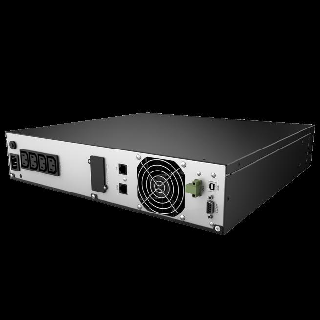 UPS nJoy Argus 2200, 2200VA/1320W, LCD Display, 4 IEC C13 cu Protectie, Management, rack 2U-big