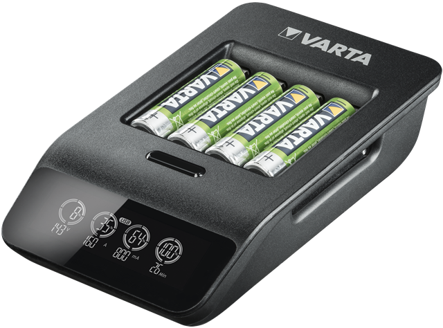 Incarcator Varta LCD Smart Charger+ 57684 AAA, AA + 4 Acumulatori AA Varta Power 2100mah-big