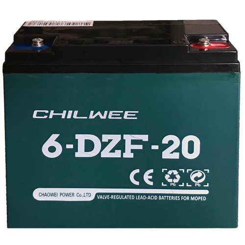 Acumulator VRLA Chilwee GEL 12V 20Ah(2hr) 6-DZF-20 (6-DZM-20) pentru biciclete electrice-big