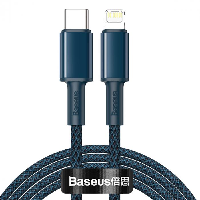 Cablu incarcare si transfer date Type C to Lightning - Baseus PD 20W Blue 2m-big