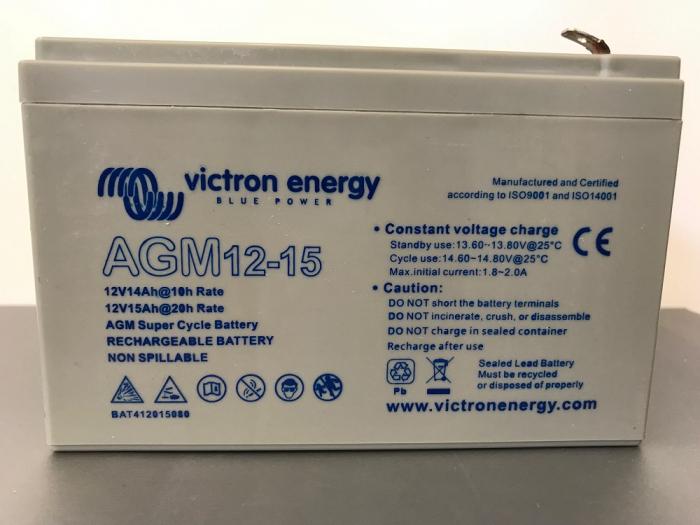 Acumulator VRLA AGM Victron Energy 12V 15 Ah Super Ciclic pentru biciclete electrice AGM 12-15-big
