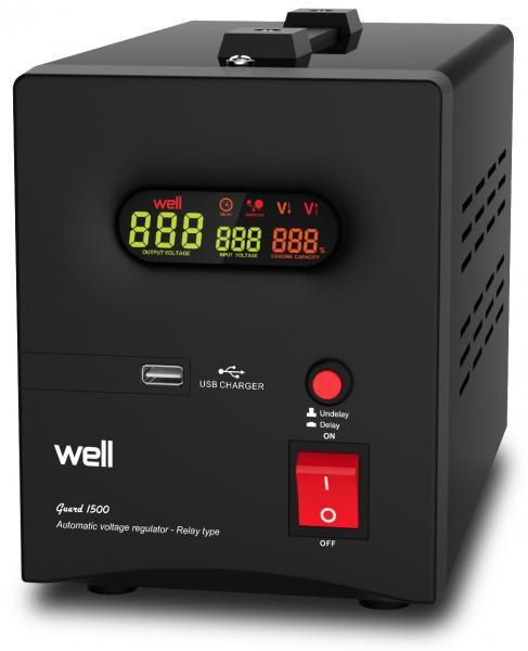 Stabilizator automat de tensiune cu releu Well 1500VA/900W AVR-REL-GUARD1500-WL-big