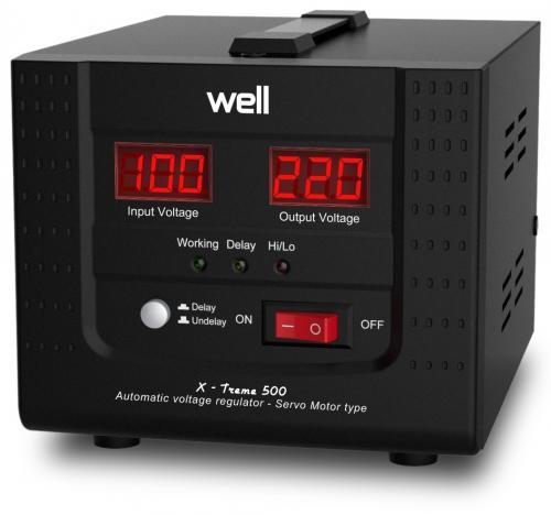 Stabilizator automat de tensiune cu servomotor Well 500VA/300W AVR-SRV-XTREME500-WL-big