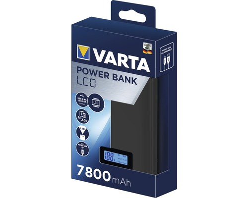 Powerbank Varta LCD Li-Ion 7800mAh antracit 57970-big