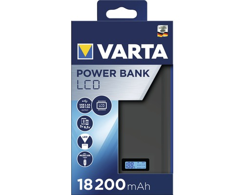 Powerbank Varta LCD Li-Ion 18200mAh antracit 57972-big