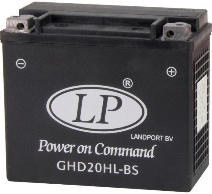 Acumulator Moto LandPort GEL 12V 19 Ah 290A GHD20H-3 Harley Davidson echivalent YTX20L-BS / YTX20HL-BS-big