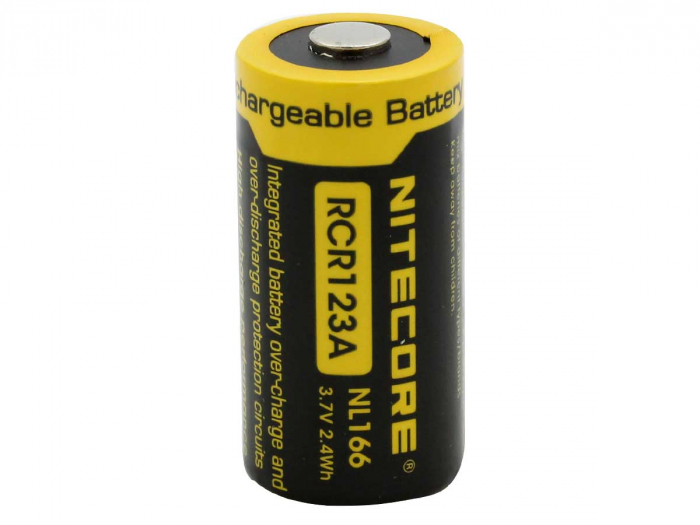 Acumulator 16340 Li-Ion 650 mah Nitecore NL166 RCR123A-big