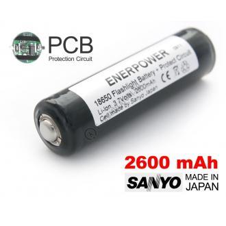 Acumulator 18650 Li-Ion 2600 mAh Sanyo cu protectie PCB 5 A-big