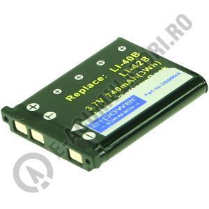 Acumulator 2-POWER cod DBI9664A pentru camere digitale, compatibil LI-40B, LI-42B-big