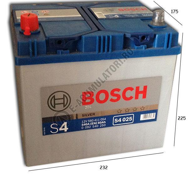 Acumulator Auto Bosch S4 60 Ah borne inverse Asia 0092S40250-big