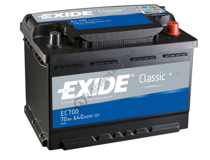 Acumulator Auto Exide Classic 70 Ah cod EC700-big
