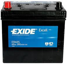 Acumulator Auto Exide Excell 60 Ah borne inverse Asia cod EB605-big